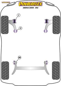 Powerflex Track Front Wishbone Rear Bush - Arona (2019-on) - PFF85-2002BLK