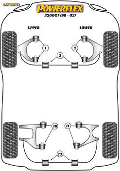 Powerflex Rear Anti-Roll Bar Bushes - 3200GT (1988 - 2002) - PFR35-313-16