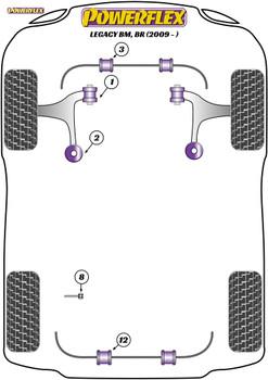 Powerflex Front Anti-Roll Bar Bushes - Legacy BM, BR (2009 - 2014) - PFF69-903-25