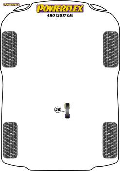 Powerflex Track Lower Torque Mount - A110 (2017 on) - PFF60-8026BLK