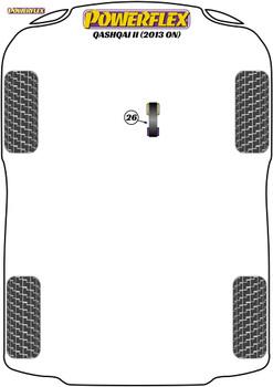Powerflex Track Lower Torque Mount - Qashqai J11 (2013 on) - PFF60-8026BLK