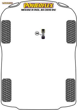 Powerflex Track Lower Torque Mount - Megane IV Incl. RS (2015 on) - PFF60-8026BLK
