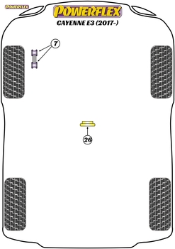 Powerflex Jack Pad Adaptor - Cayenne E3 9Y (2018 on) - PF3-1664