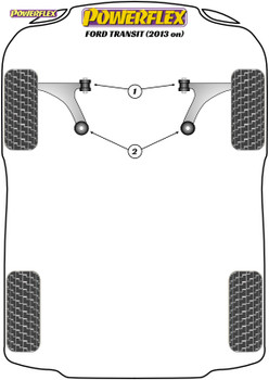 Powerflex Front Wishbone Rear Bushes - Transit / Tourneo Custom (2013 on) - PFF19-9002
