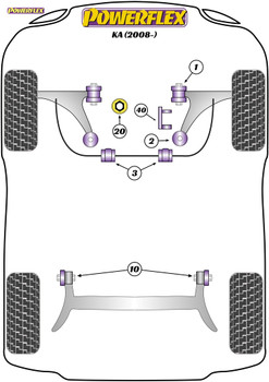 Powerflex Track Upper Engine Mount Insert - KA (2008 -) - PFF16-540BLK