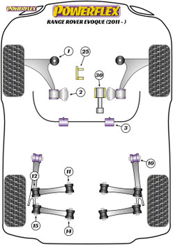 Powerflex Lower Engine Mount Insert - Range Rover Evoque (2011 - ) - PFF88-1130