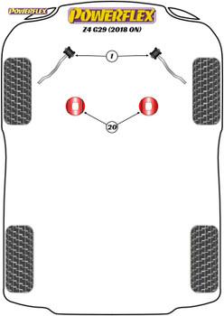 Powerflex Track Front Radius Arm To Chassis Bushes Caster Adj - Supra Mk5 A90/J29 (2019 -) - PFF5-5401GBLK