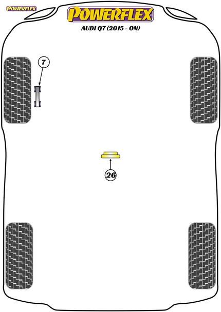 Powerflex Jack Pad Adaptor - Q7 (2015 - ON) - PF3-1664