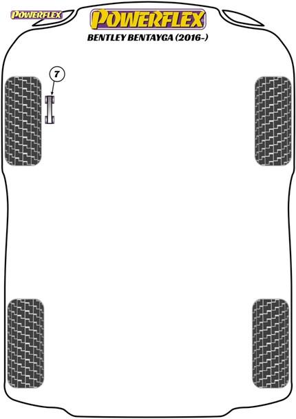 Powerflex Jack Pad Adaptor - Bentayga (2016 - ON) - PF3-1664