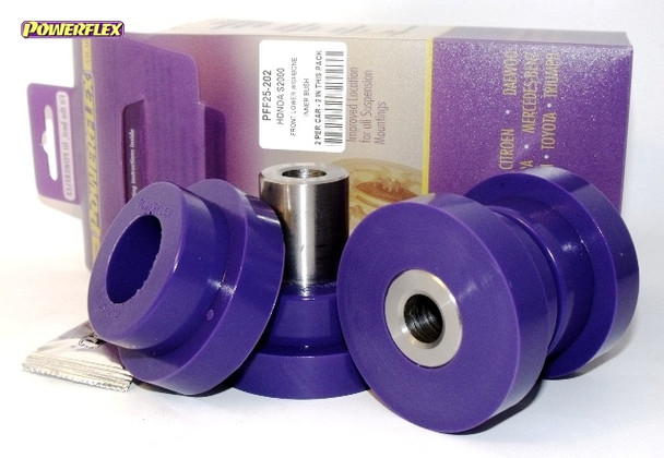 HONDA S2000 PFF25-202BLK POWERFLEX BLACK FRONT LOWER WISHBONE INNER BUSHES
