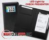 10 Pack,10 units, Wholesale,Bulk, Custom, Print, LED Check Presenter, Billfold, LED MENU