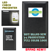wholesale, bulk, sale, online, buy, Menu, check, presenter, illuminated, light up , back lit, backlit, LED Check, LED Menu, CLevelander, South beach, Miami, Beach, Miami beach