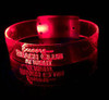 Jumbo XL LED WRISTBANDS - ON/OFF/FLASH PERSONALIZED - CUSTOM - Light Up Optical Engraved LED Bands 3 Function - Version 2.0