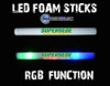 HQ,HD,RGB,LED,Foam,Stick,FoamStick, Glowstick, custom, customized, personalized, logo, art,brand,branded,branding,promo,product, glowstick, baton,lumiton