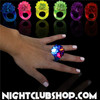 LED, jelly, stretchy, rings, lights, rave, dance, club, lounge