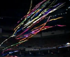 """Product Description  Flameproof Streamer effects combined with Confetti effects:  20"""" inch long """"Quick-Load"""" Packs - Two Effect in One Package!  40 White Tissue Streamers per pack - 20' ft long Streamers  Combined with 800 Confetti Rainbow Spirals"""