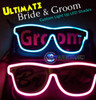 Ultimate, Bride, Groom, Wedding, Party, Custom, shades, Rave, Glow, LED, Sun Glasses