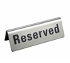 VIP,Reserved, Sign, Reserved sign, Reservado, Table, Place holder, Stainless steel