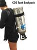 Aluminum Cryo CO2 Tank Backpack Adjustable Strap Padded Carrier Tank Cylinder Holder