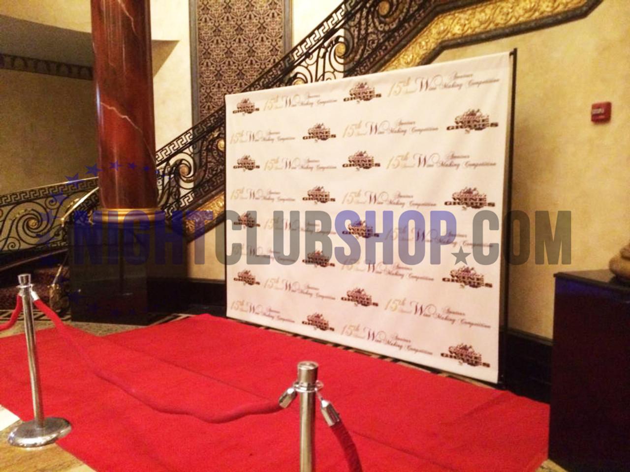 10' X 10' STEP & REPEAT BACK DROP NO GLARE MATTE - VIP Red Carpet NIGHTCLUB