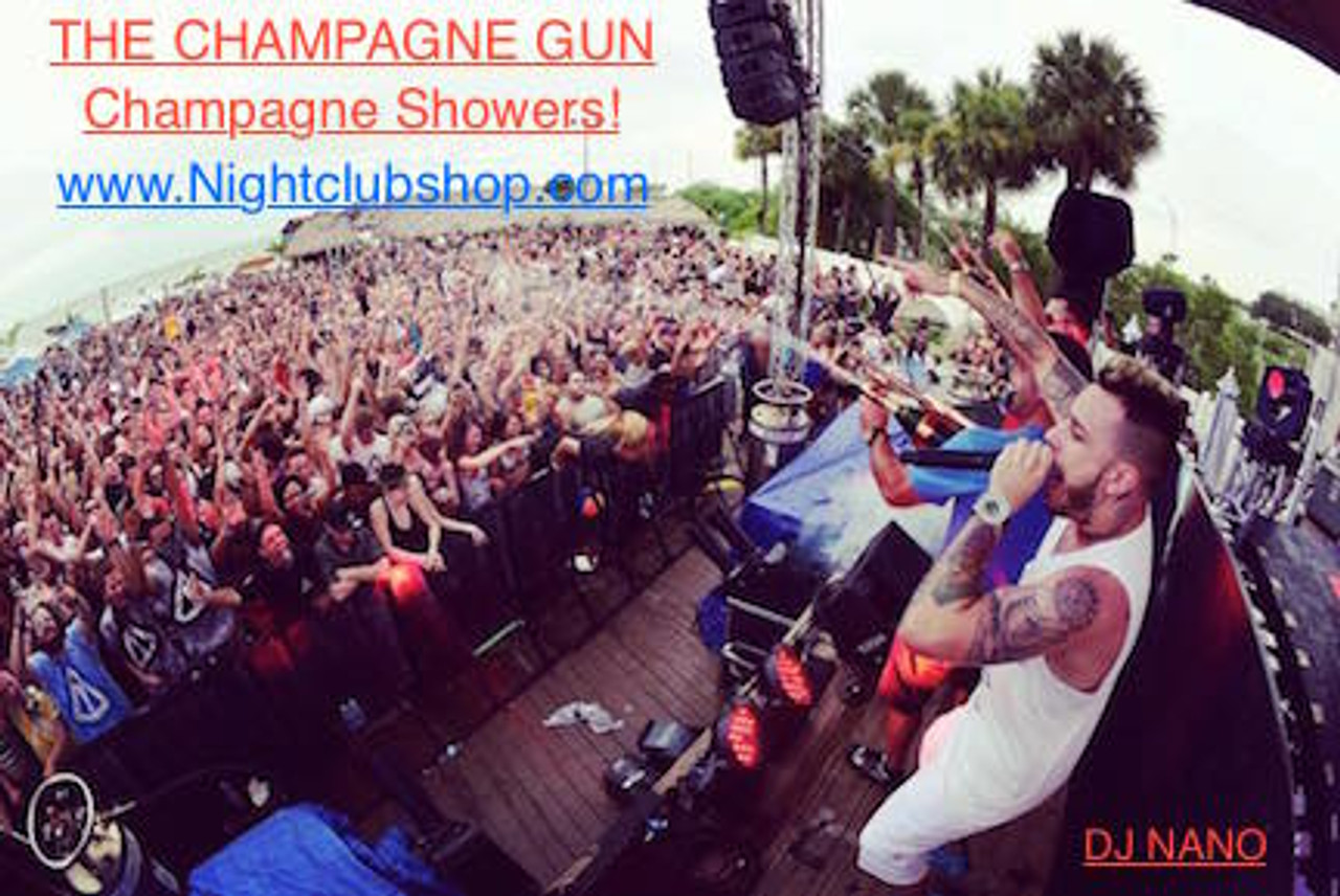 DJNano, Champagne Gun, Bahrain, Tampa, champagne Shower