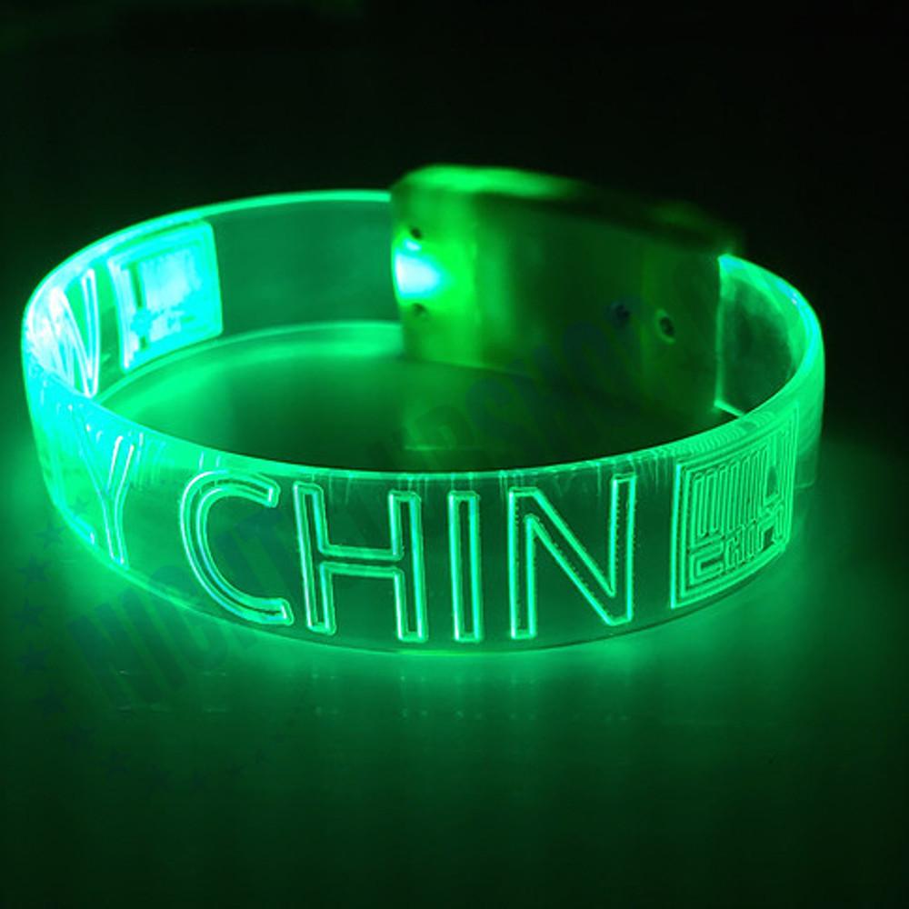 BIGGER IS BETTER , XL, LED WRISTBANDS, Light Up, Glow, LOGO, engraved, custom