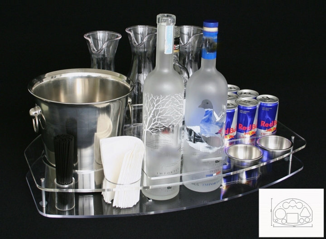 bottle, serving, tray, deluxe, vip, serving, bottle service, delivery, presentation, club, nightclub, bar, lounge, premium, dual, bottle, caddie