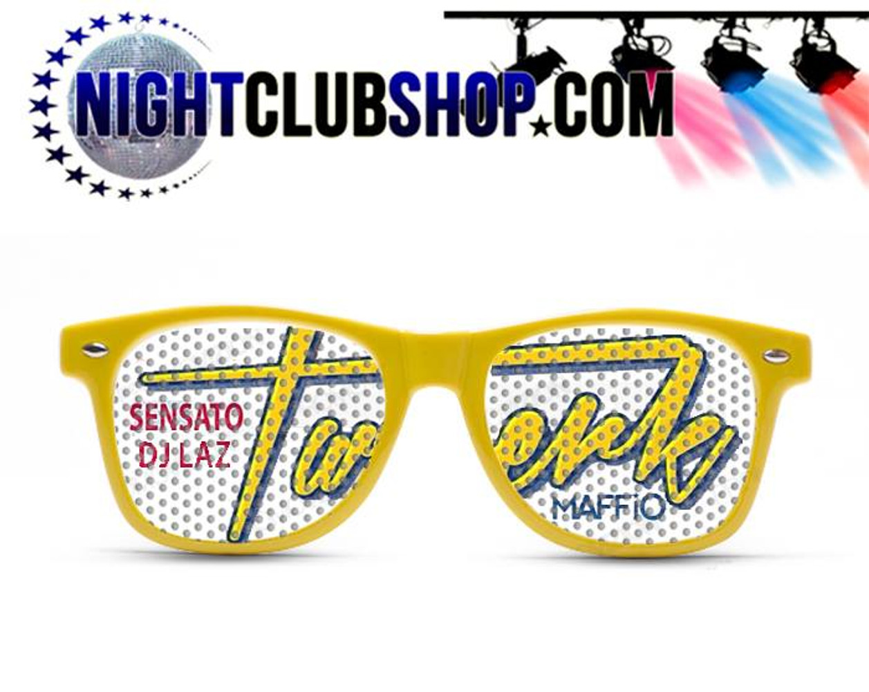2434939346 Custom Printed Promotional DJ Name or DJ Logo Sun Glasses