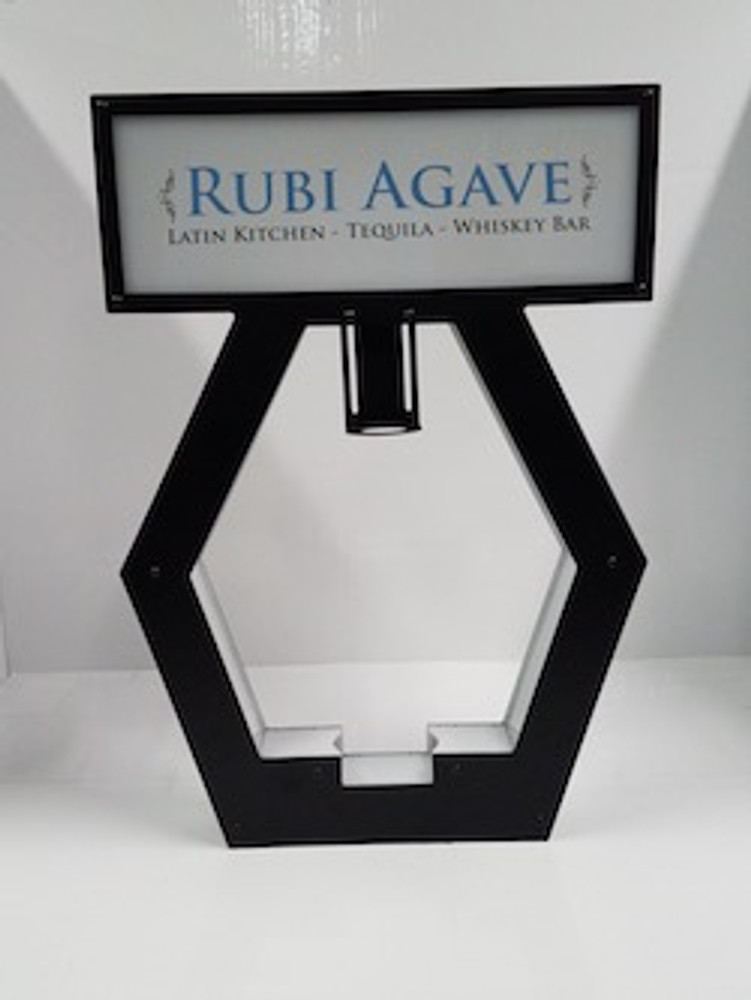 Nightclub_VIP_Lightbox_Champagne_Liquor_Tray_interchangeable_Bottle_service_carrier_holder_tray_Presenter_caddie_caddy_Banner_Top_Color Changing_RGB