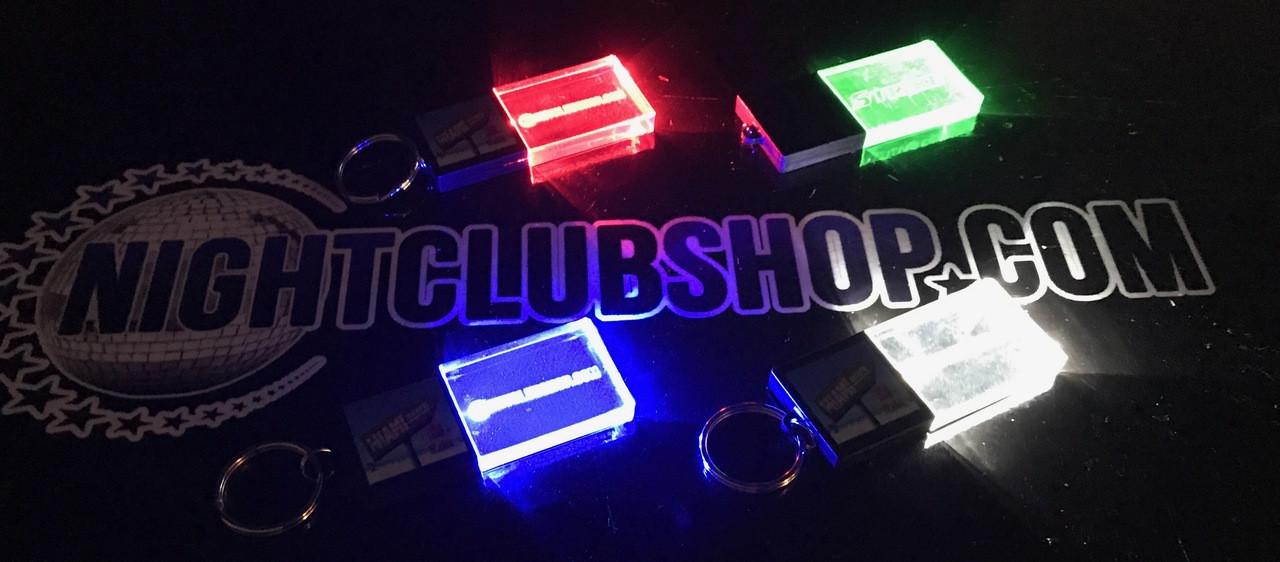 Promo,LED,Keychain,Key,chain,LED keychain, custom, BEAM, dual, print,engraved, logo,text, laser engraved,personalized,promo,merch,fundraiser,nightclub,fund raiser