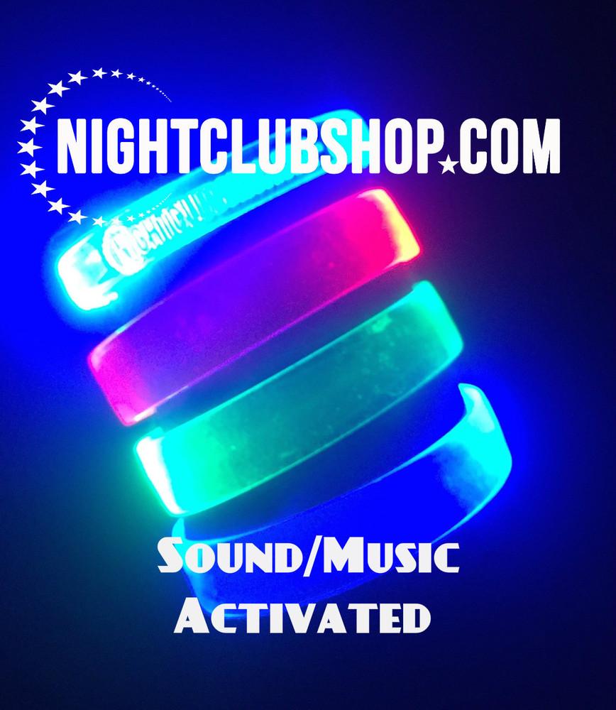 Sound activated_LED WRISTBAND_LED_wristband_non_custom_blank