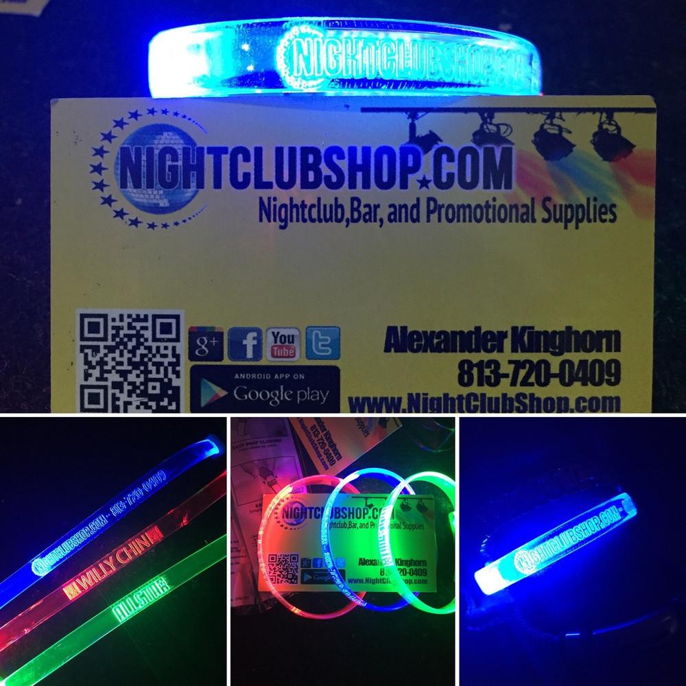 Sound activated_LED WRISTBAND_LED_wristband_non_custom_blanks_Plain