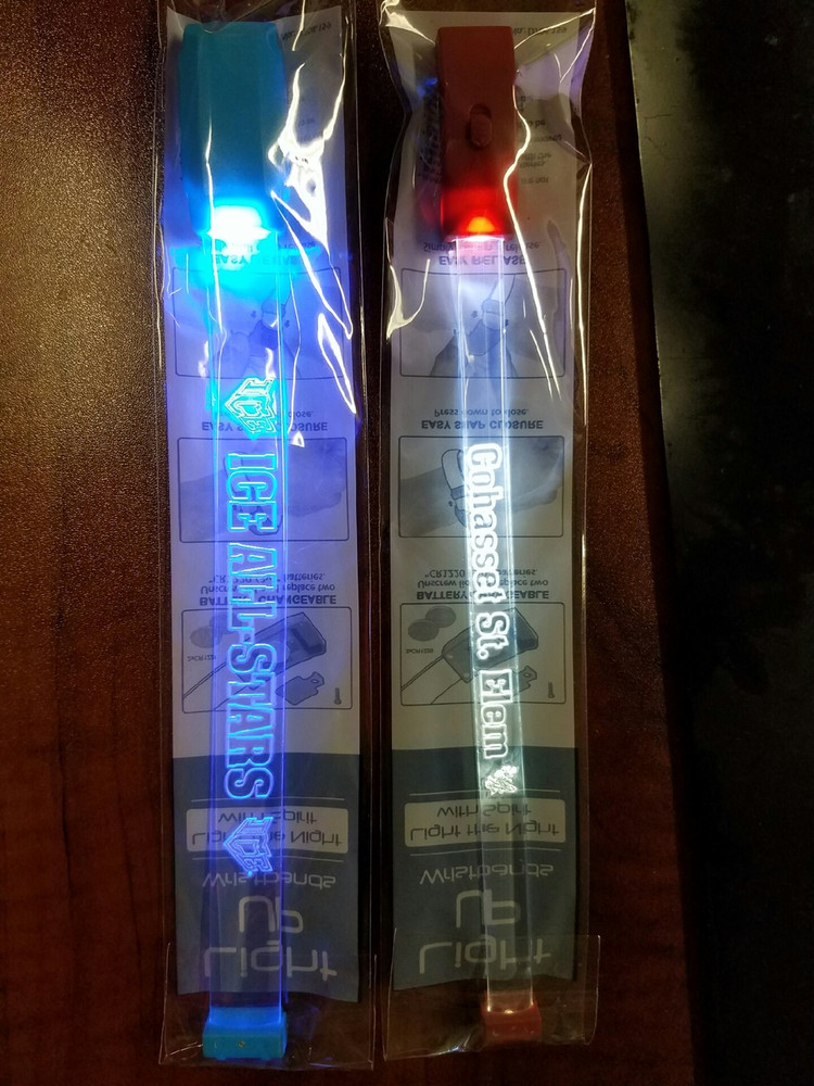Sound,reactive,activated, custom, LED, Wristband,bracelet, sports,charity,school, nightclub, VIP, fundraiser, sound activated, music,flashing,LED wristband,packaged