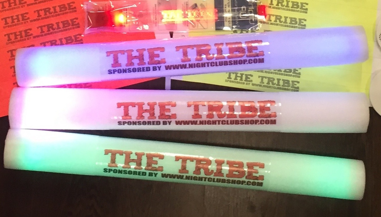 16_LED_FOAM_STICK_CUSTOM_GLOW_BATON_LUMITON_FREE_COLOR_PRINT_PERSONALIZE_FULL COLOR_TWO_SIDE
