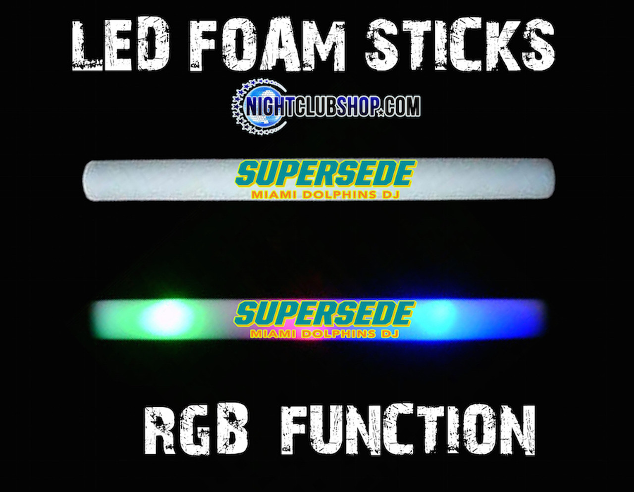 HQ,HD,RGB,LED,Foam,Stick,FoamStick, Glowstick, custom, customized, personalized, logo, art,brand,branded,branding,promo,product, glowstick, baton,lumiton