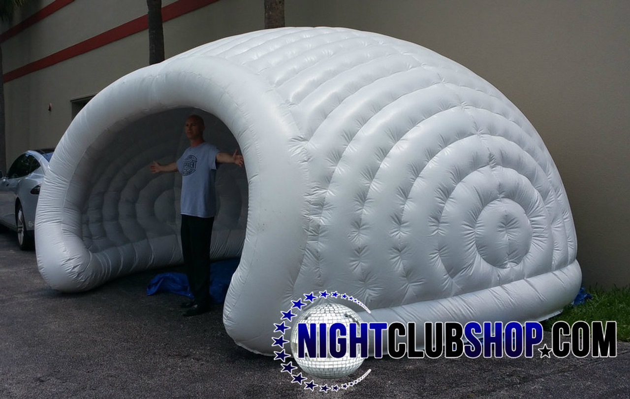 LED,DJ,BAR,VIP,BOOTH,Inflatable,Tent,Clam Shell,Cabana,white,Pop up,blow up, inflate, seashell