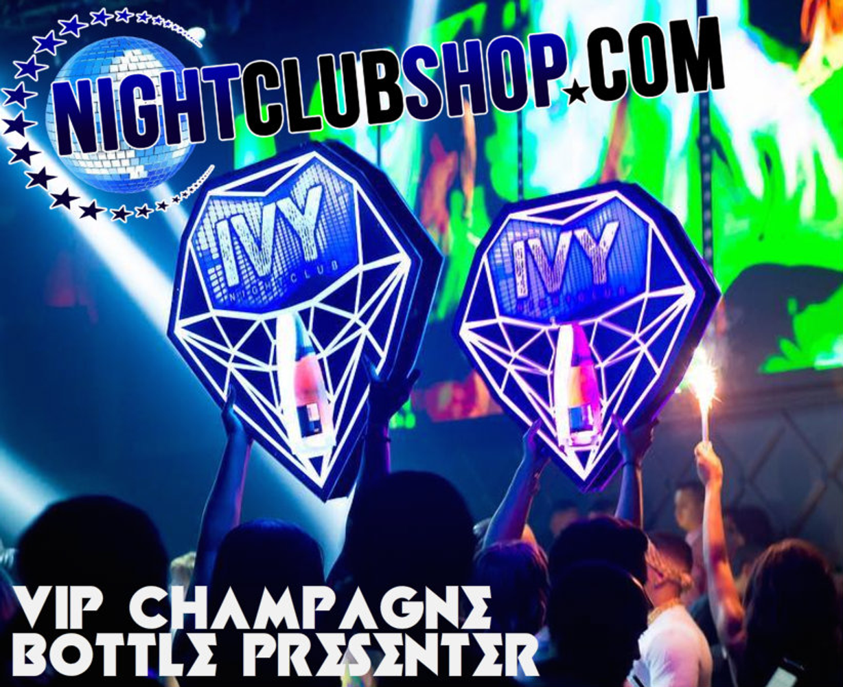 Diamond, Champagne,Bottle,service,caddie,caddy,presenter, carrier,holder,tray, LED, Light up, Bottles, VIP, Plaque,Shield,VIP tray