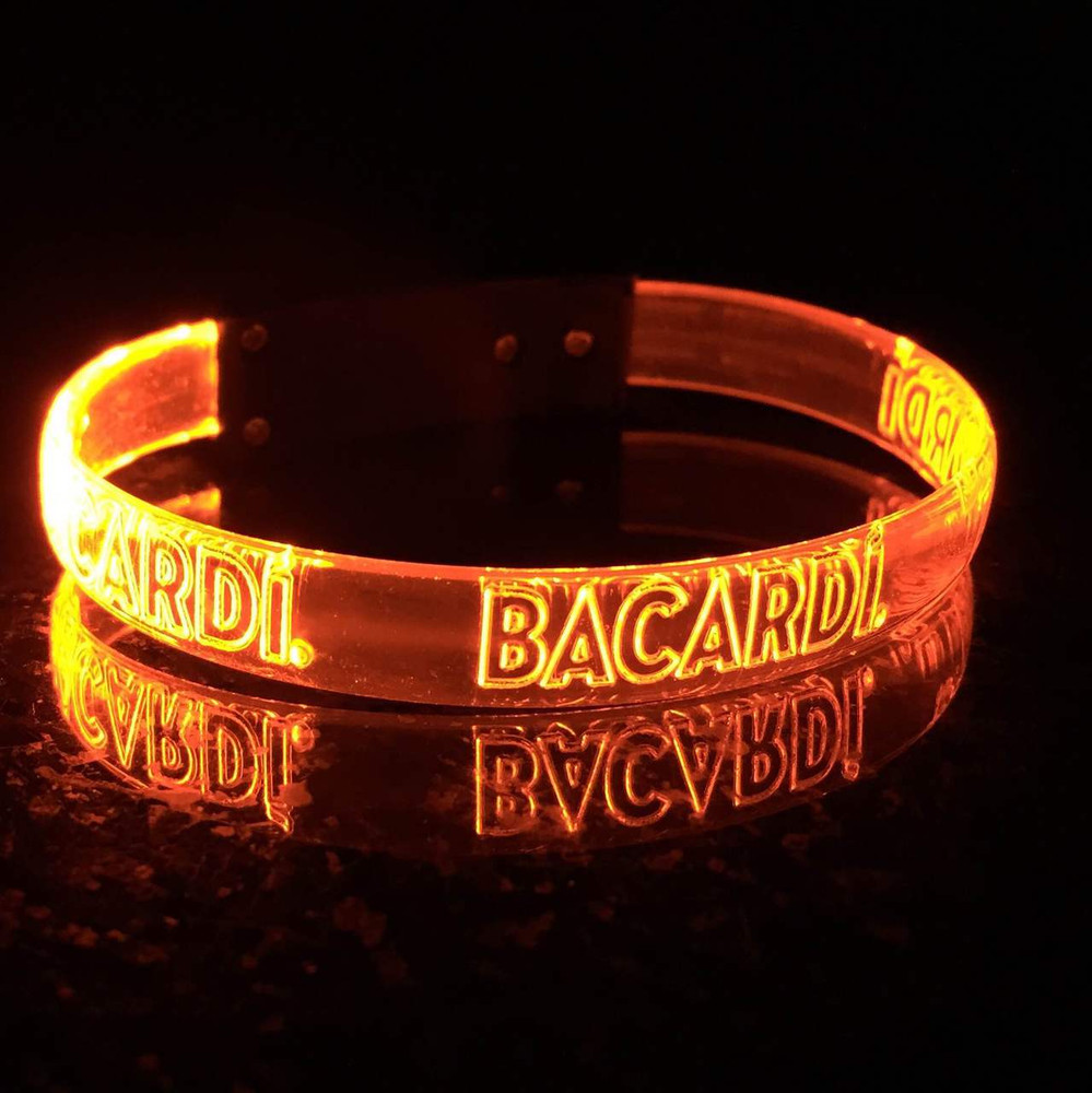 Orange,LED,Custom,Engraved,Branded,Personalized, Bulk, LED, Wristband, LED wristband, Bracelet, Glow,Neon, UV, LED Bands, wrist band,wristband, illuminated, light up, wholesale, School, wedding, nightclub, promo, merch,