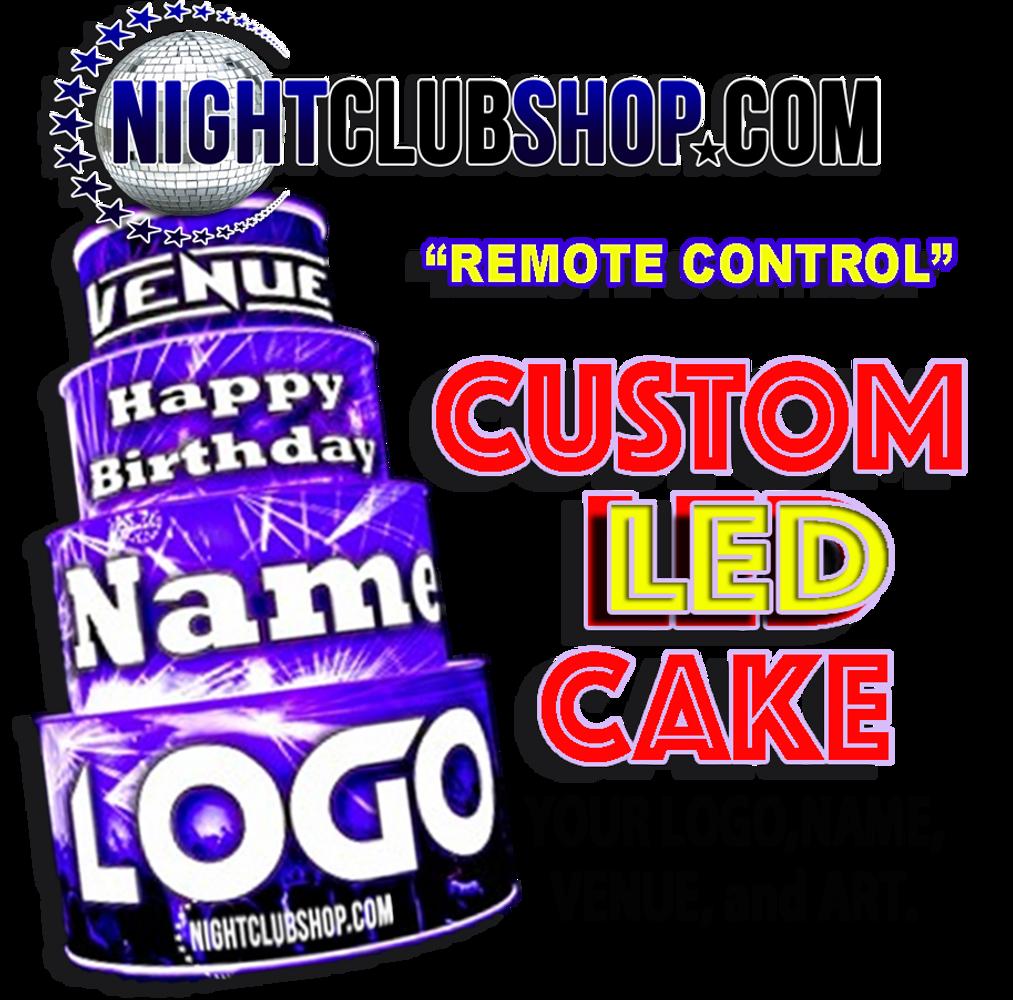 LED, Birthday, Cake, LEDCake, LED Cake, Light up, illuminated,custom