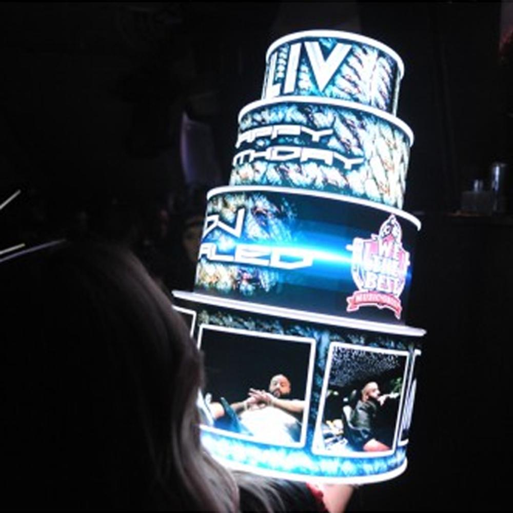Nightclub,Bottle,Service,delivery,presentation, LED, Birthday, Cake, LEDCake, LED Cake, Light up, illuminated,custom
