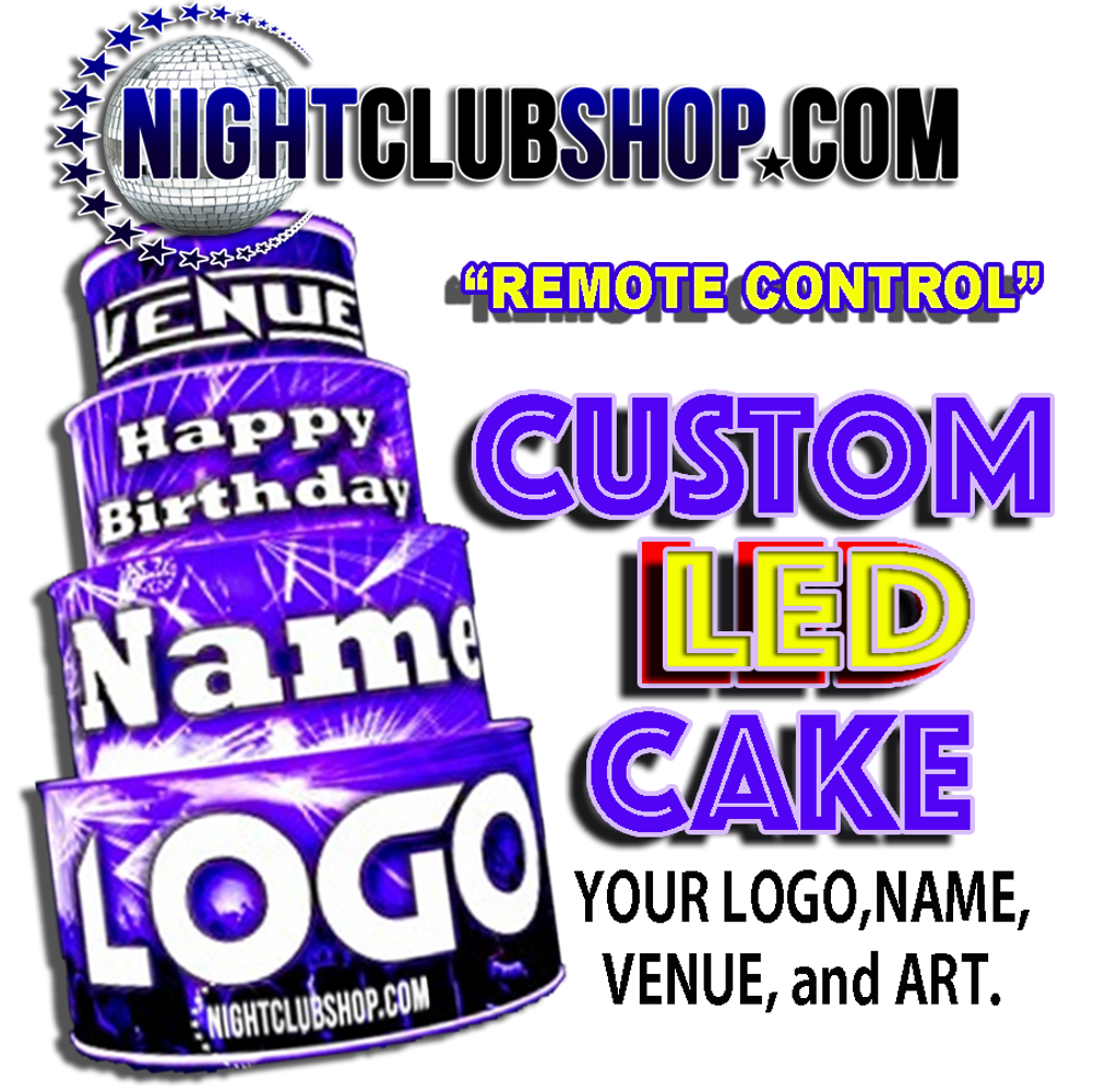 Remote,control,Custom,LED, Birth day, Birthday, Cake, Glow cake, Neon Cake, Light up Cake, LED Cake