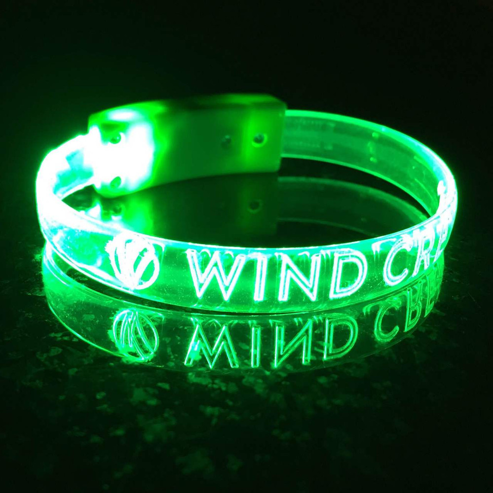 Green,LED, Custom,Engraved,Branded,Personalized, Bulk, LED, Wristband, LED wristband, Bracelet, Glow,Neon, UV, LED Bands, wrist band,wristband, illuminated, light up, wholesale, School, wedding, nightclub, promo, merch,