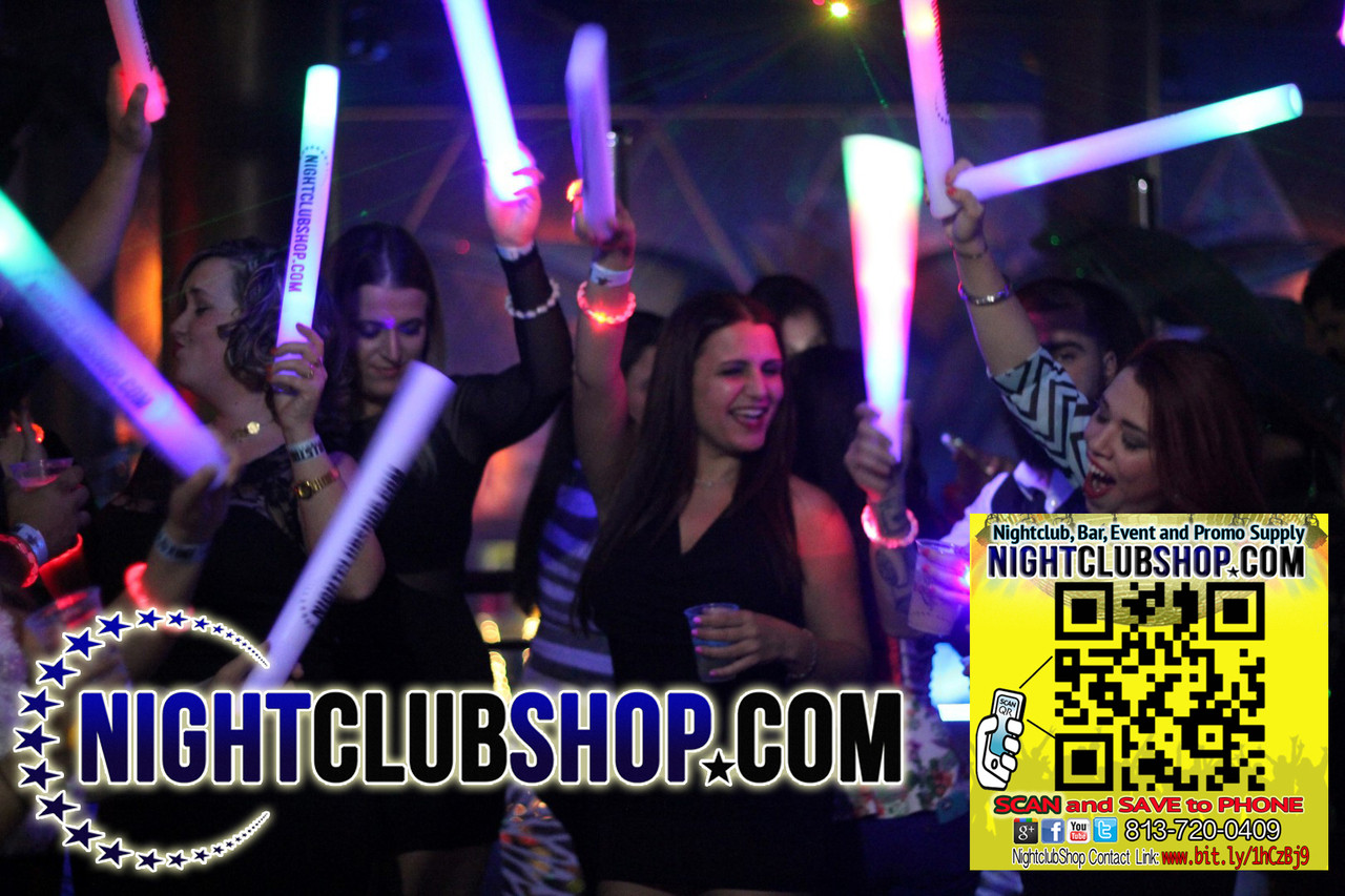 LED Foam Sticks, LED, Glow ,batons, Custom Printed, Branded ,with your info,logo,text, or, Art