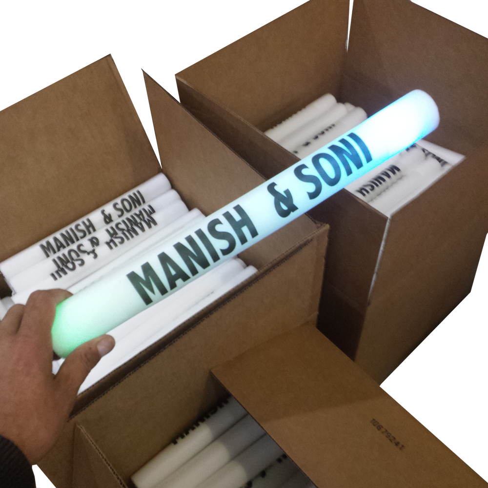 Custom,Printed,Personalized, company,Corporate, branding,Branded, wholesale, bulk, Led, FoamStick, Foam Stick, glow Stick, glowStick