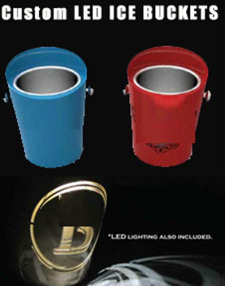 custom, led, branded, high quality, vip, Ice Buckets,logo, bottle service, ICE, Bucket, Champagne,