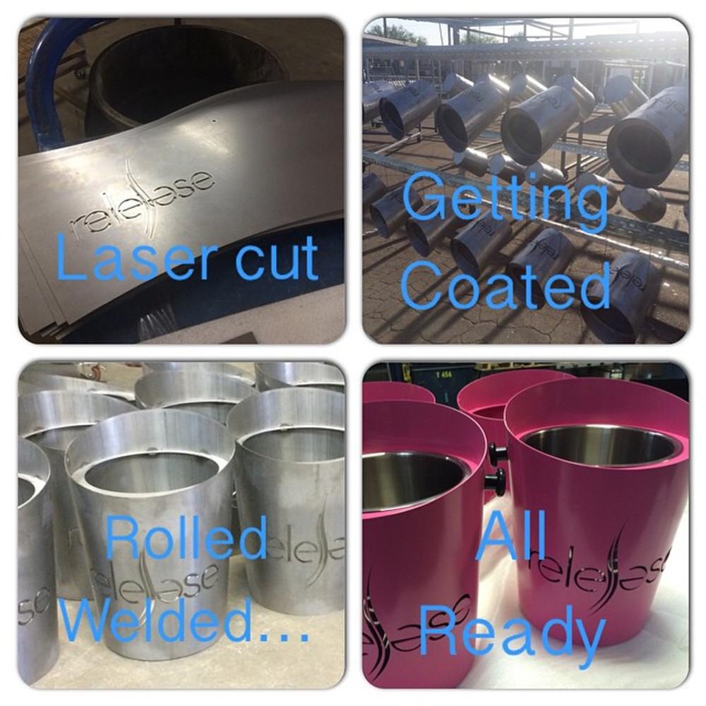 Laser Cut-LED-Light up-Illuminated-Brand-Logo-Icebucket-Ice-Bucket