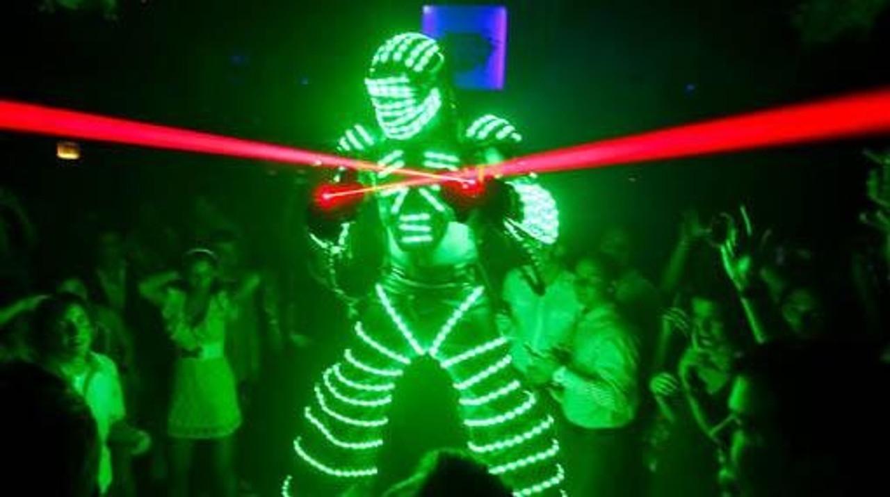 Robot, Suit, EDM, Laser Robot, Laser Glove, Laser, Glove, Mit, hand, Hand laser