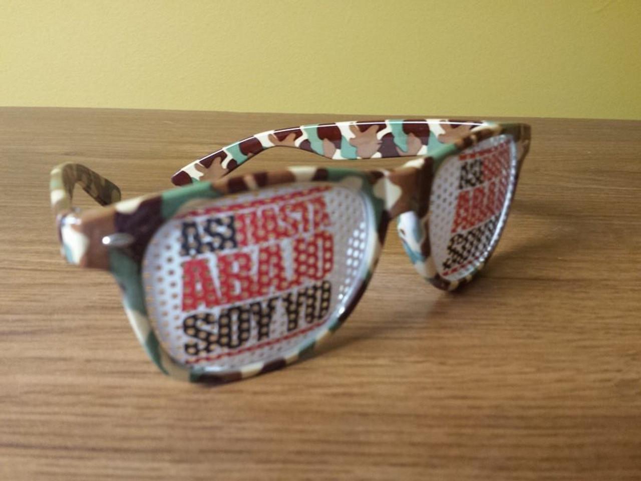 custom, printed, party, promo, camo, frames, sun glasses