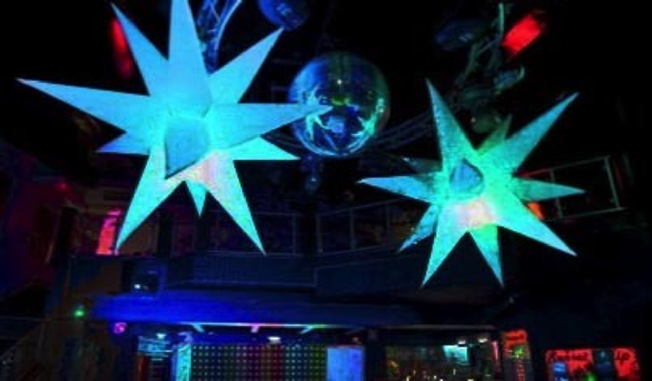 LED, Inflatable, blow up,light up, hanging, decor, decoration, star, balloon, stage, club, nightclub,