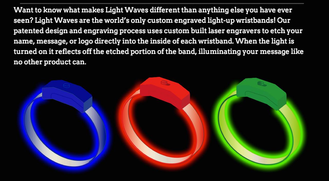 LED, Light up, Wristband, Light Wave, Bracelet, Bands, Glow, Branding, Bulk, Nightclub, Event, wedding
